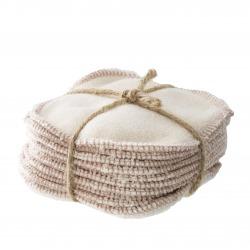 Lingettes démaquillantes lavables en coton